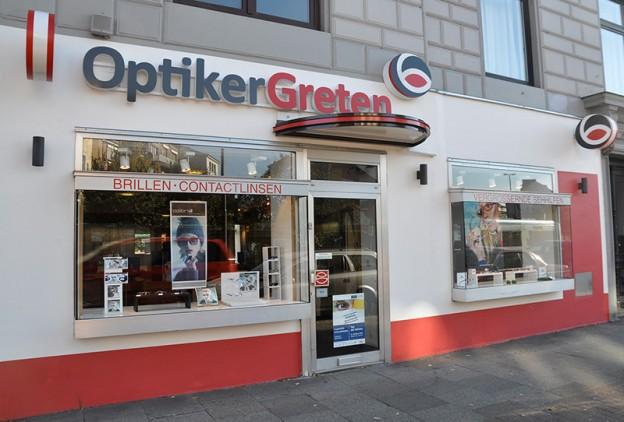 Foto der Fassade des Geschäfts Optiker Greten